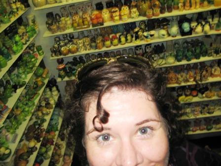 Selfie in a Gatlinburg Attraction: Salt and Pepper Shaker Museum.