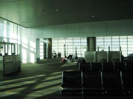 Alone on the Airport Concourse