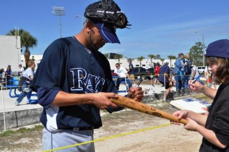 Tampa Bay Rays Spring Training 2010, Pitcher David Price Signs Autographs for Fans