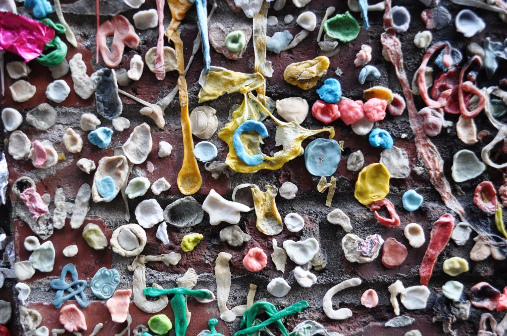 Gum Wall in Seattle's Post Alley Near Pike Place Market