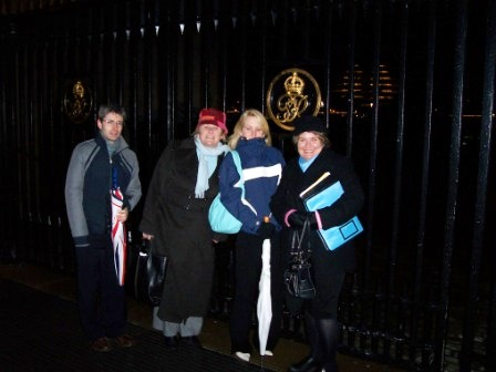 Outside Tower of London on a Cold and Rainy Night