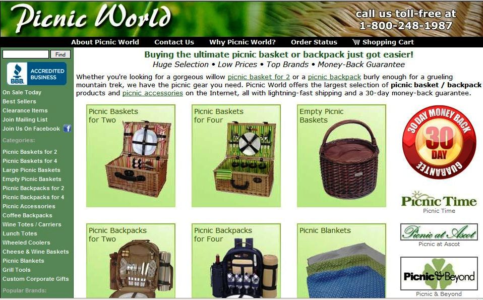 Picnic World Website