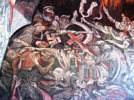 Mural by Jose Clemente Orozco in Guadalajara, Mexico