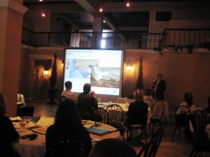 Ian Henderson Presents during the Tourism Crisis Management Leadership Workshop in Gainesville, Oct. 19 & 20, 2010