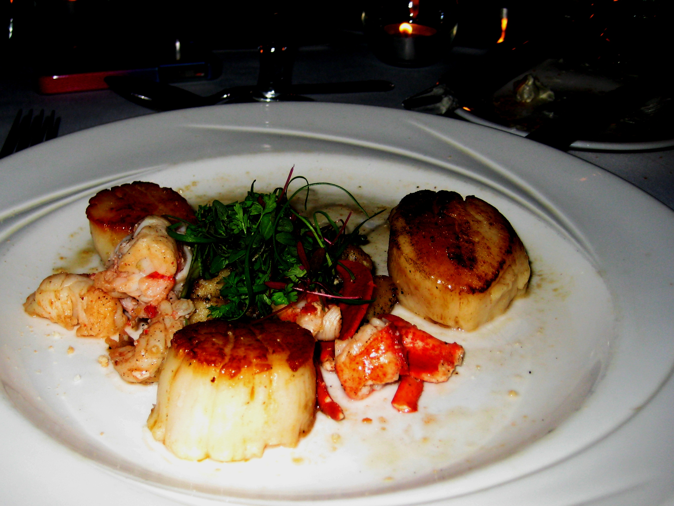 Scallops, Michael's Tasting Room, Sarasota, Fla., Dec. 2010