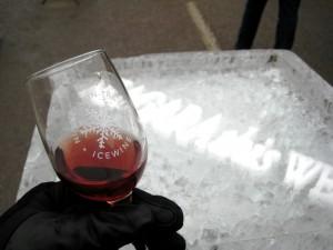 Glass with Icewine at the Niagara Icewine Festival, 2010