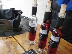 Bottles of Icewine at the Niagara Icewine Festival 2010