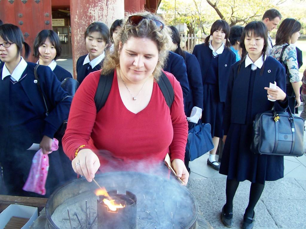 Cleansing at a Nara Temple, Japan, Nov. 2004
