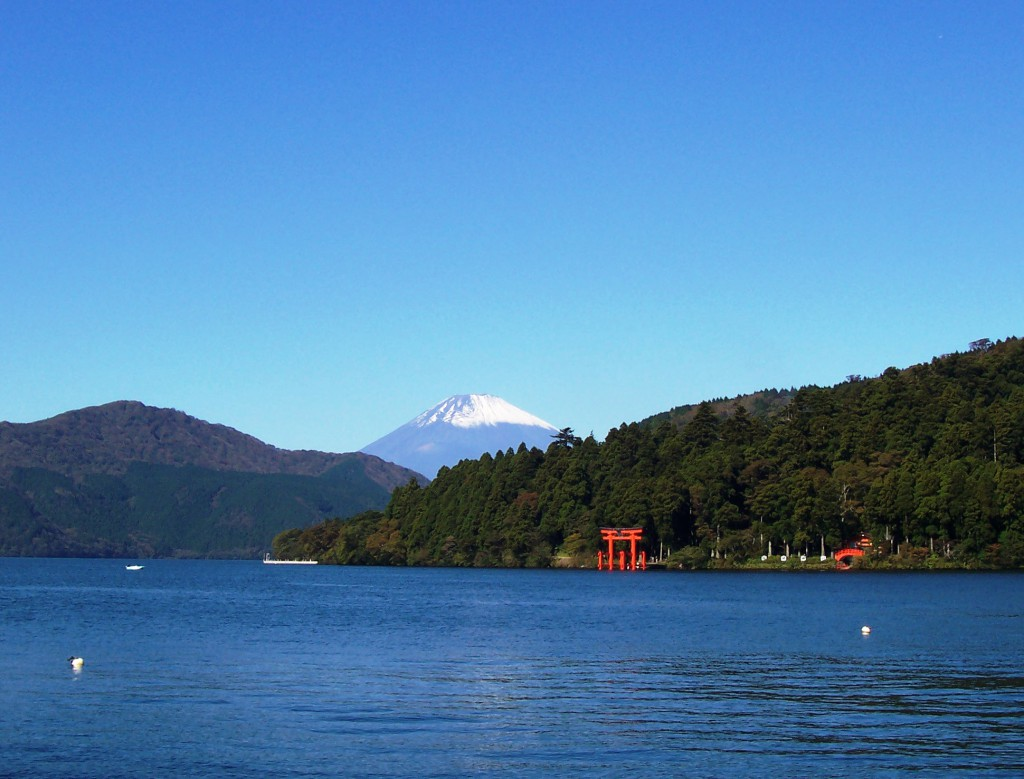 View of Mt. Fuji from a Park