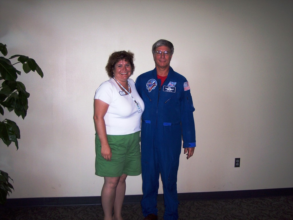 Me and Astronaut Col. John Blaha, June 2006, Kennedy Space Center, Fla.