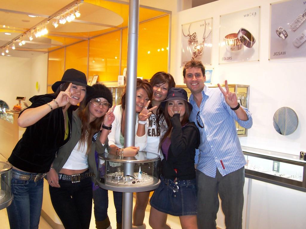 Matt was Popular with the Girls in Japan