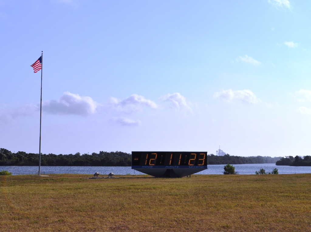 Countdown Clock - See the Shuttle in Background?