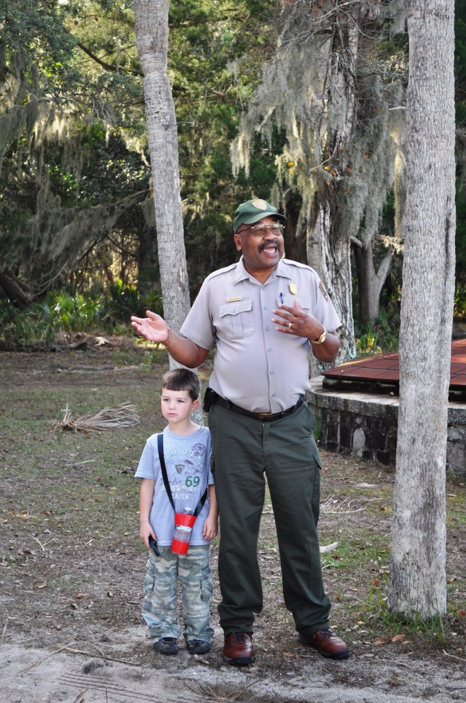 National Park Service Ranger on Cumberland Island National Seashore, Georgia