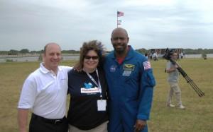 Former Astronaut Garrett Reisman, Me and Astronaut Leland Melvin (@Astro_Flow)