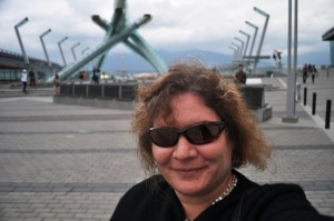 Self Portrait in Front of the 2010 Winter Olympics Cauldron, Vancouver, B.C.