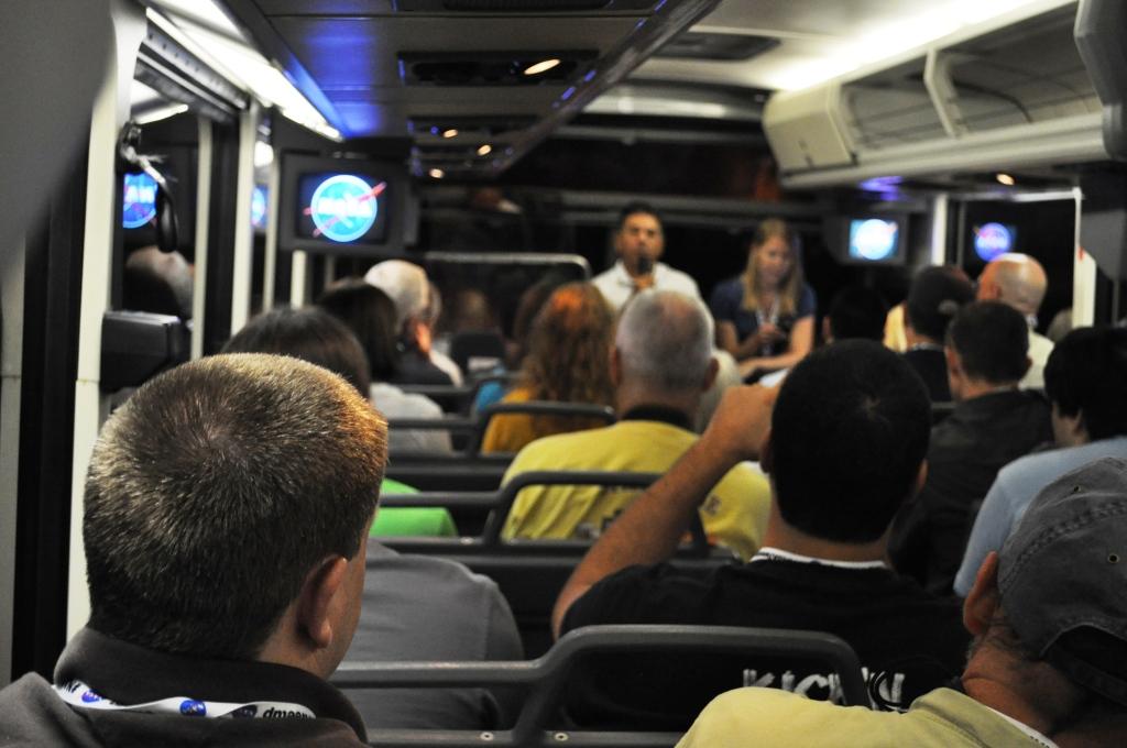 NASA Tweetup Participants Listen to NASA Space Shuttle Specialist Chris, July 21, 2011
