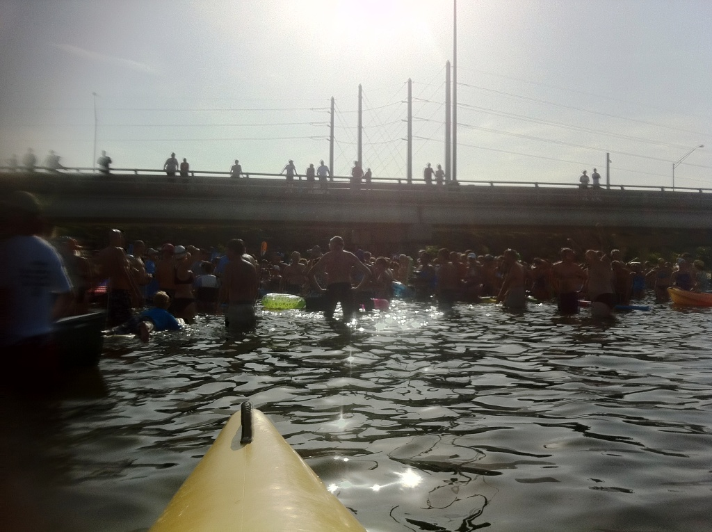 Charlotte Harbor Freedom Swim Participants Gather Before the Swim, July 4, 2011