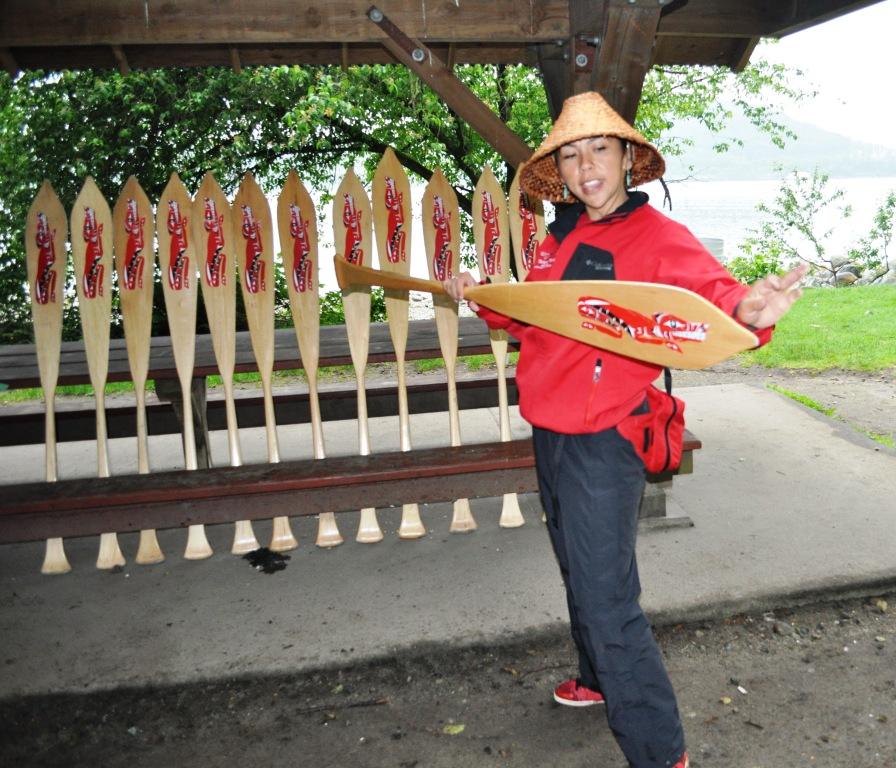 Takaya Tours Guide Laura Leigh Paul Demonstrates Proper Paddle Usage