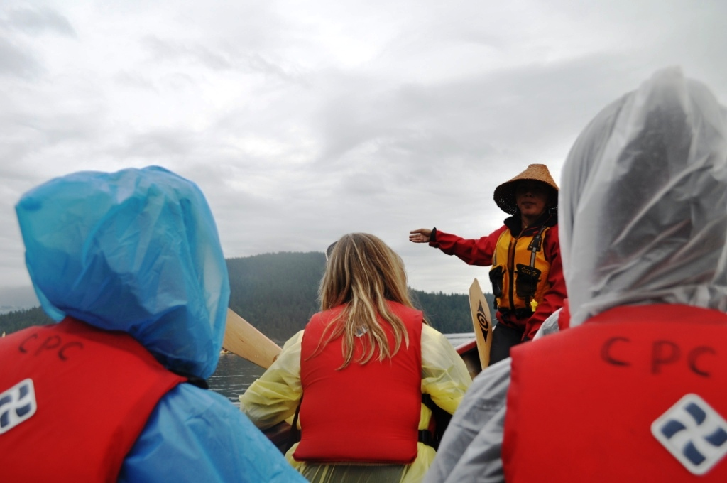 Takaya Tours Guide Laura Leigh Recites a Legend in Burrard Inlet