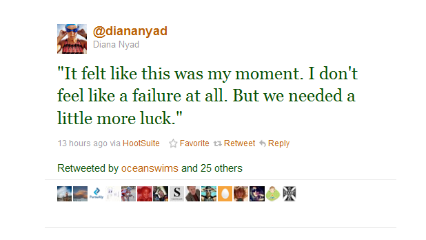 "Tweet from @diananyad ""I don't feel like a failure at all."""
