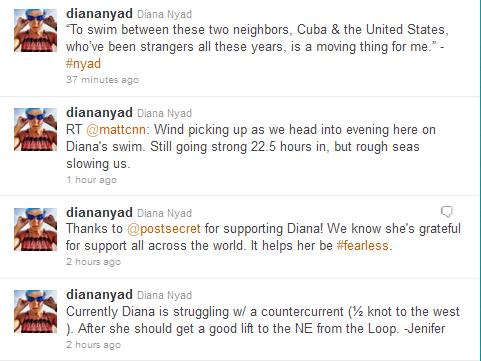 Tweets from Diana Nyad's Account @diananyad