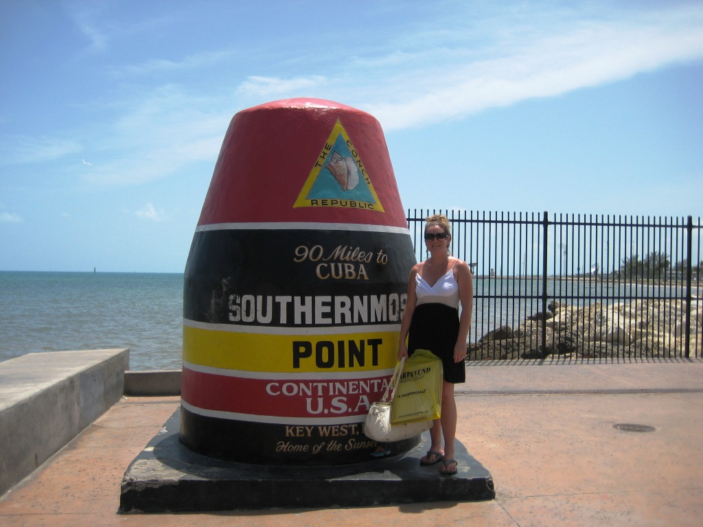 Little Sis at the Southern Most Point, Key West, Fla.