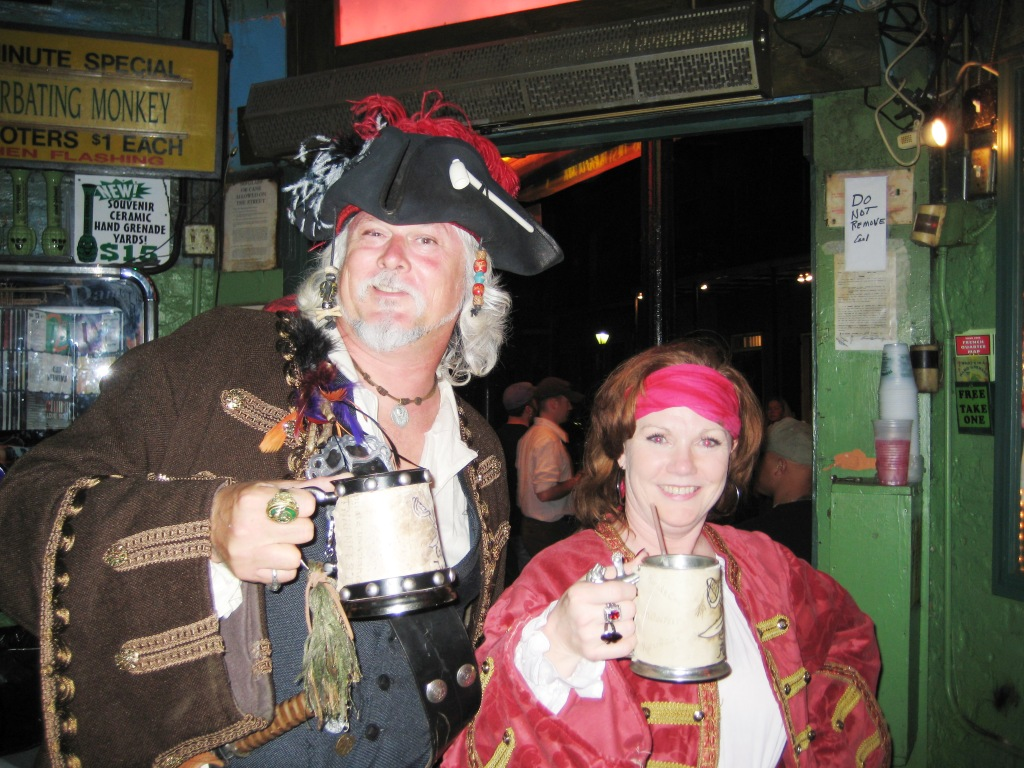 Ahoy! Pirates Raise a Cup O'Grog in New Orleans, April 2008
