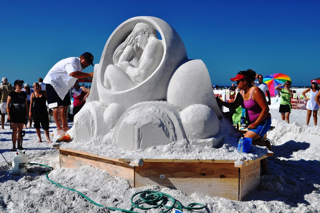 """""""Circle of Life"""" by Sandis Kondrats & Sue McGraw, Won the 2010 2010 Siesta Key Crystal Classic Master Sand Sculpting Competition"""