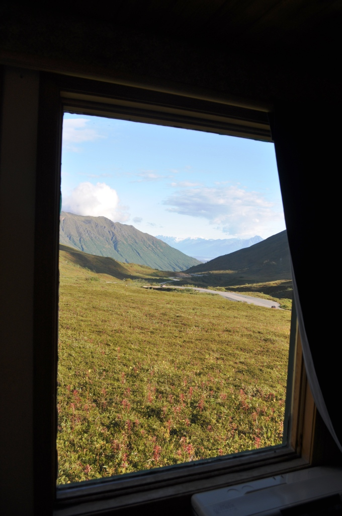 View from a Cabin at Hatcher Pass Lodge, Independence Mine Historical State Park