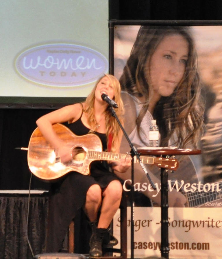 """Singer, Songwriter and NBC's """"The Voice"""" Contestant Casey Weston Performs at Naples Daily News Women Today Expo, Oct. 1, 2011"""