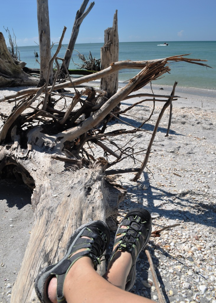 Chillaxing with Keen Water Sandals at Stump Pass Beach State Park, Fla.