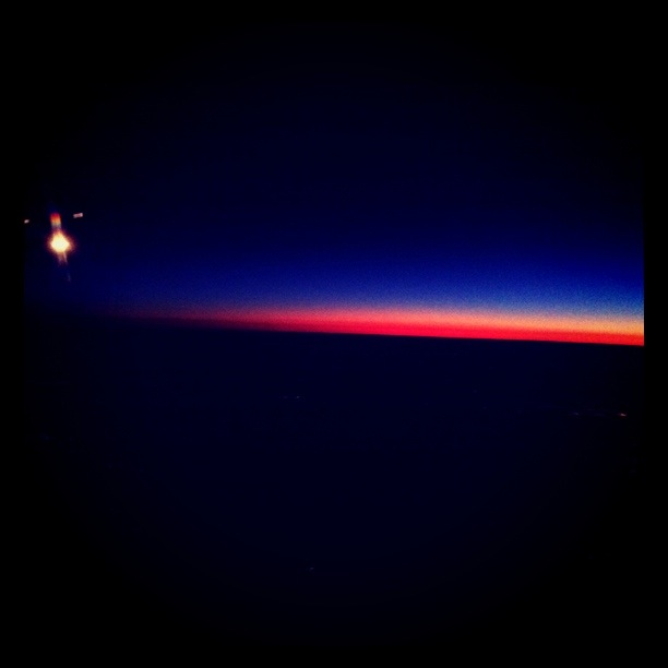 Sunrise During an O'dark-Thirty Flight