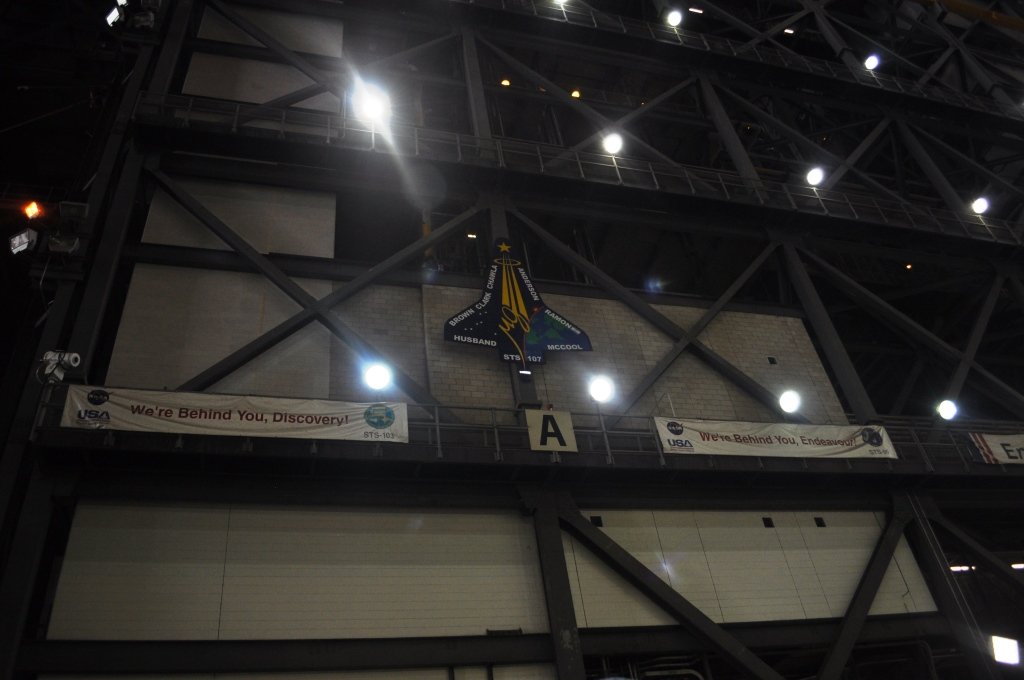 Remains from STS-107 Columbia Mission are Behind this Wall in the VAB, Kennedy Space Center