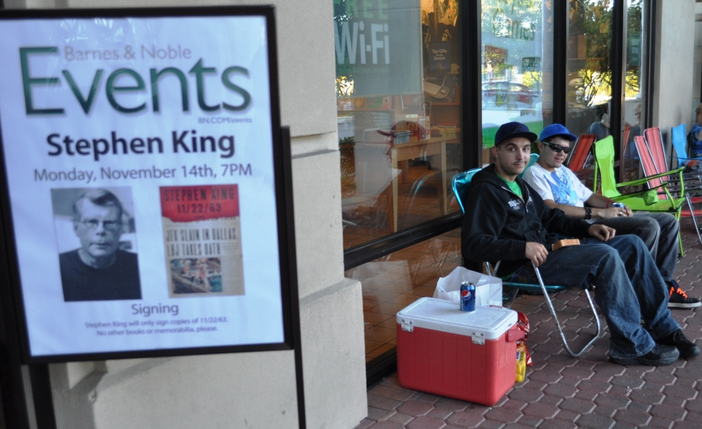 Matt Klann and Jace Conger Drove 21 Hours from Kansas City to be First in Line for Stephen King's Book Signing on Nov. 14, 2011