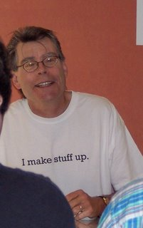 Thank Goodness for Camera Zoom! Stephen King at the New Yorker Book Festival, 2005