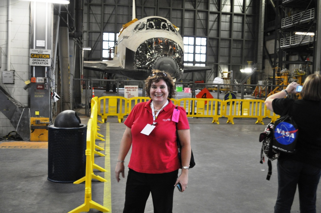 Me with Space Shuttle Endeavour, Vehicle Assembly Building, Kennedy Space Center, Fla, Nov. 25, 2011