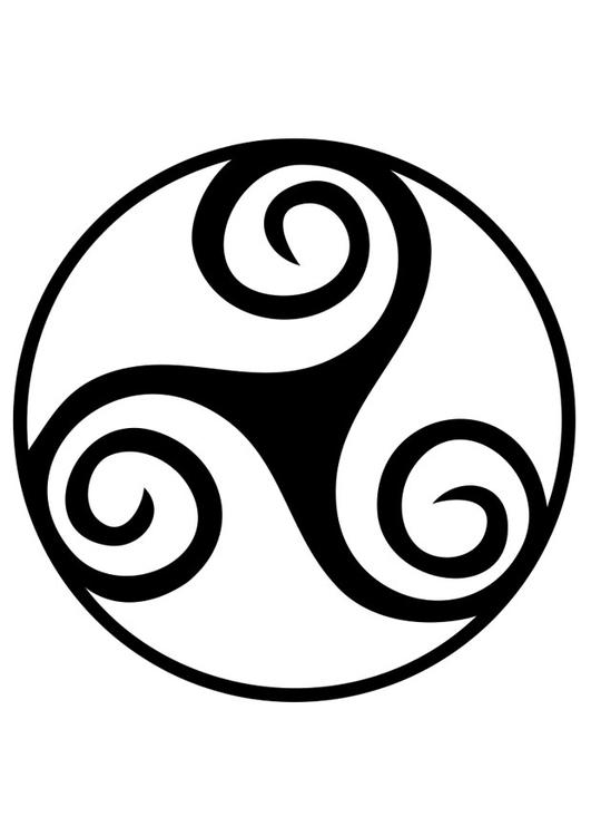 Spiral Triskele: Source: http://www.edupics.com/coloring-page-celtic-symbol-spiral-triskele-i19189.html