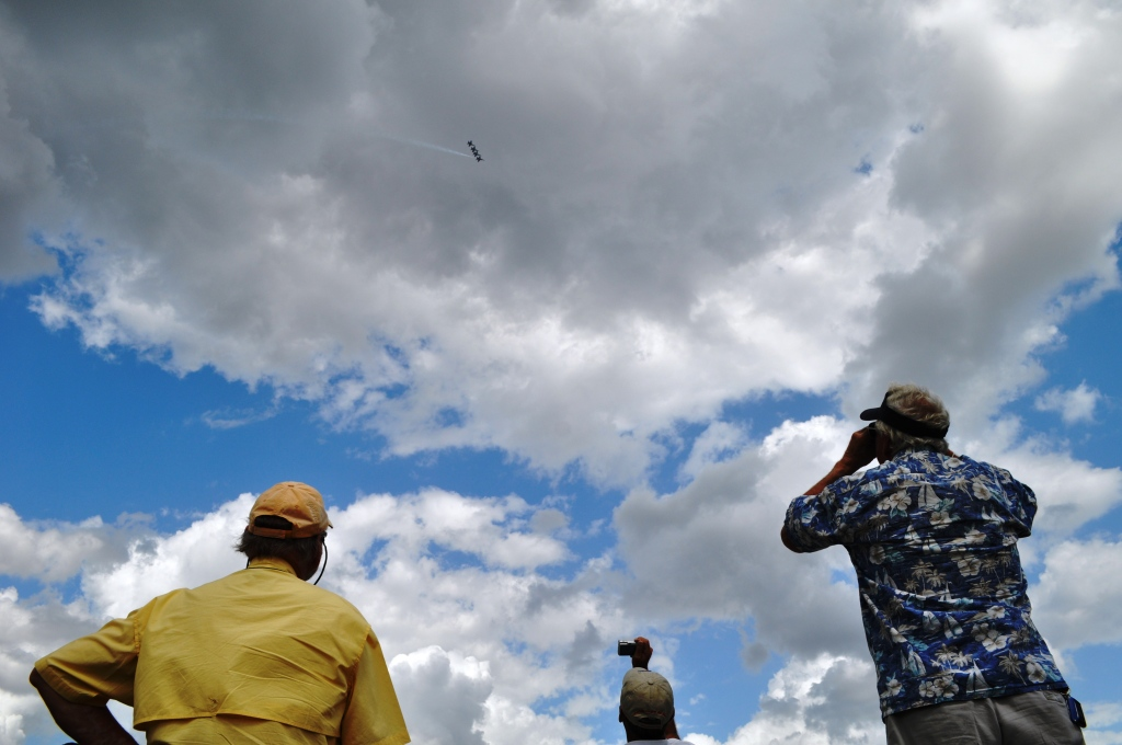 Spectators Watch the U.S. Navy Blue Angels Perform at the Punta Gorda Airport, March 22, 2012