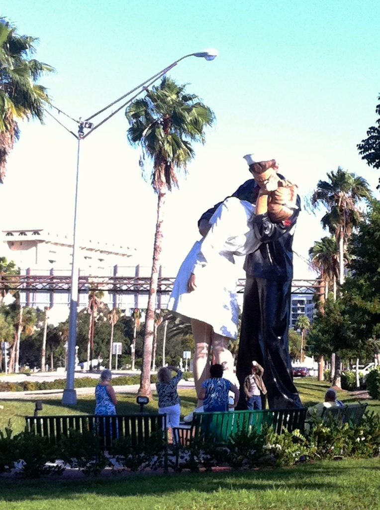 """A WWII Sailor Thought This Nurse Was Kissable... """"Unconditional Surrender"""" on the Sarasota Waterfront, October 2011"""
