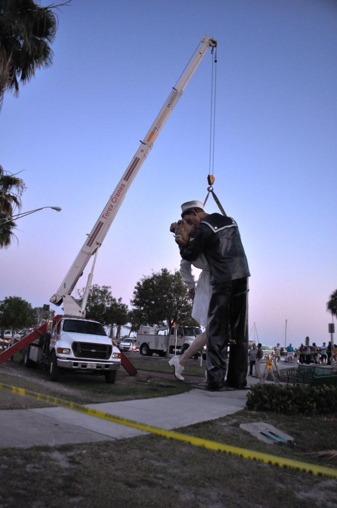 "Crew Works on ""Unconditional Surrender"", Sarasota, Fla., April 26, 2012"