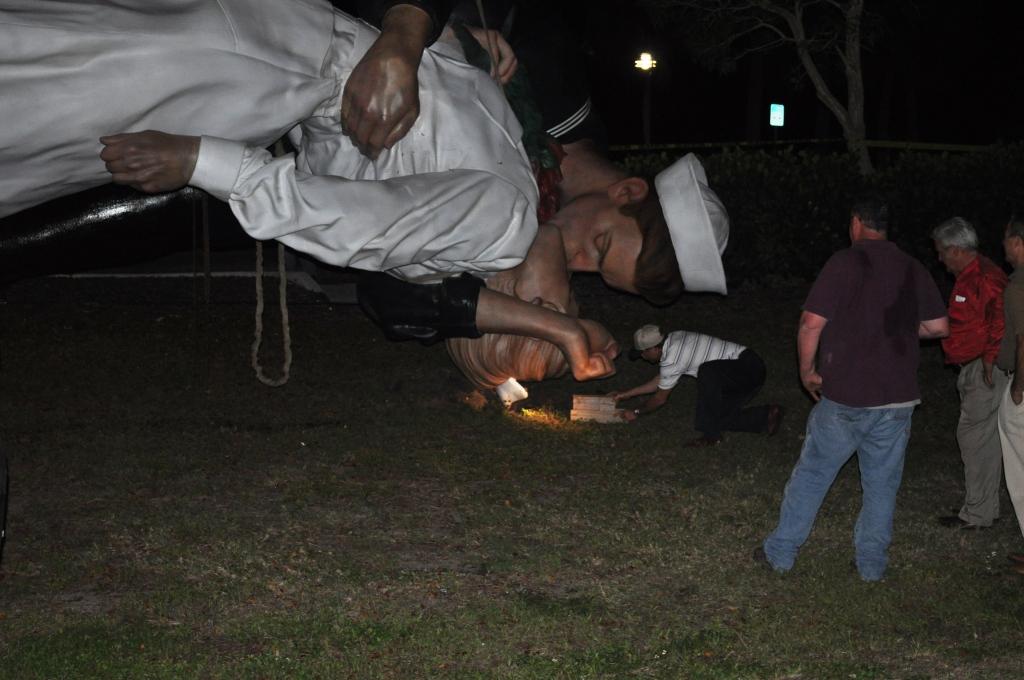 """Unconditional Surrender"" Rests Following the Car Crash, Sarasota, Fla., April 26, 2012"