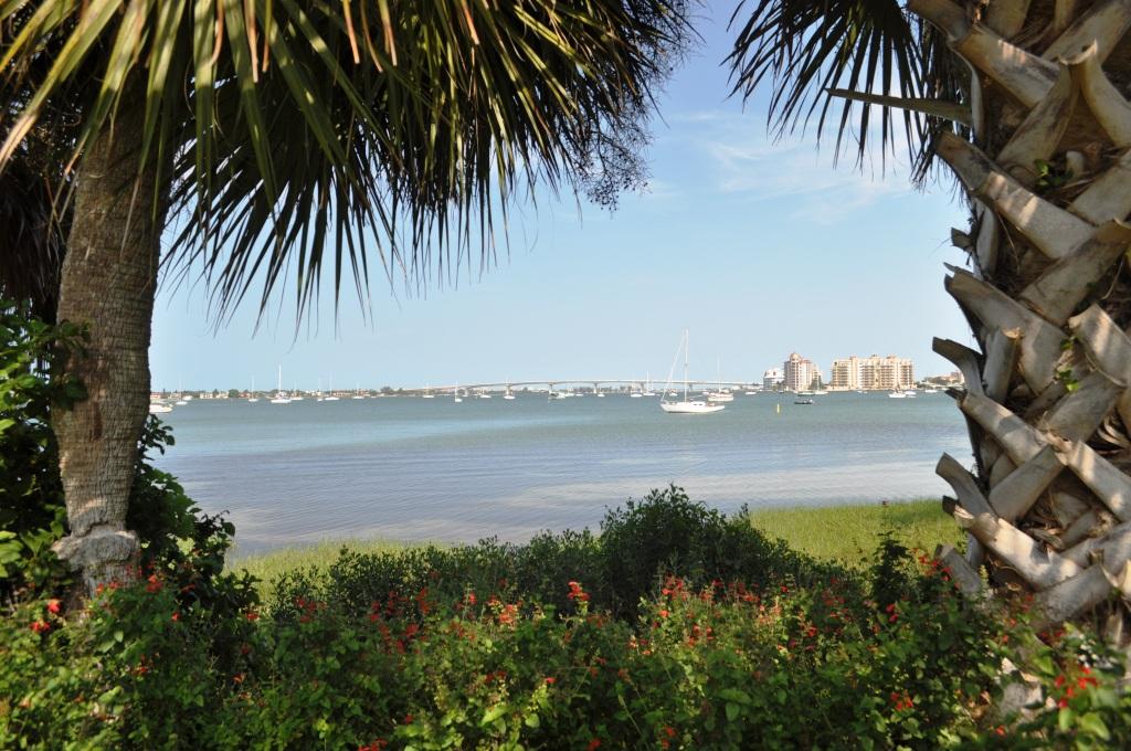 Scenic View of the Sarasota Waterfront, Marie Selby Botanical Gardens, Sarasota, Fla.