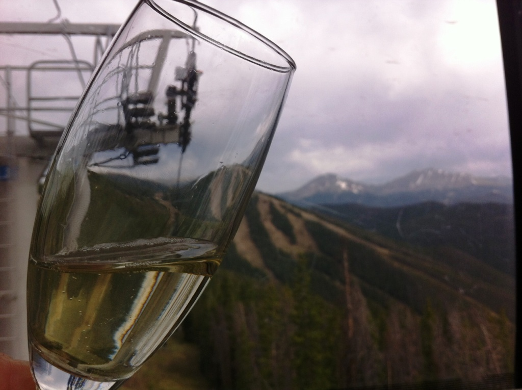 Sipping Champagne in a Gondola, Keystone, Co