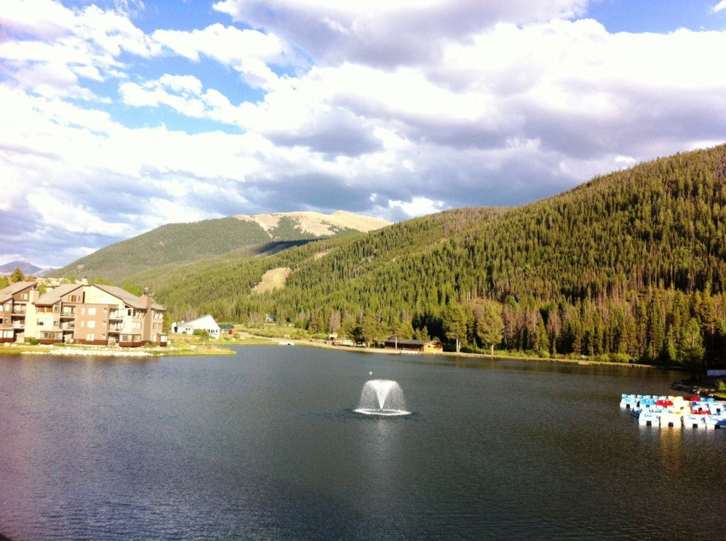 View from my Lakeside Village Room at Keystone Resort, Colo.