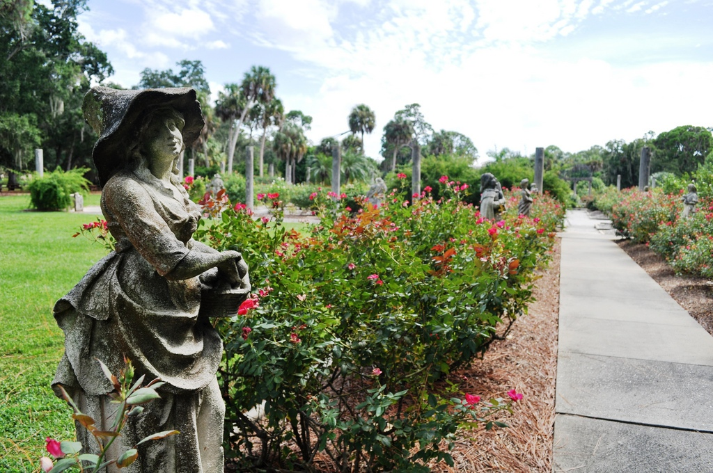 Propose in the John & Mable Ringling Museum of Art's Rose Garden