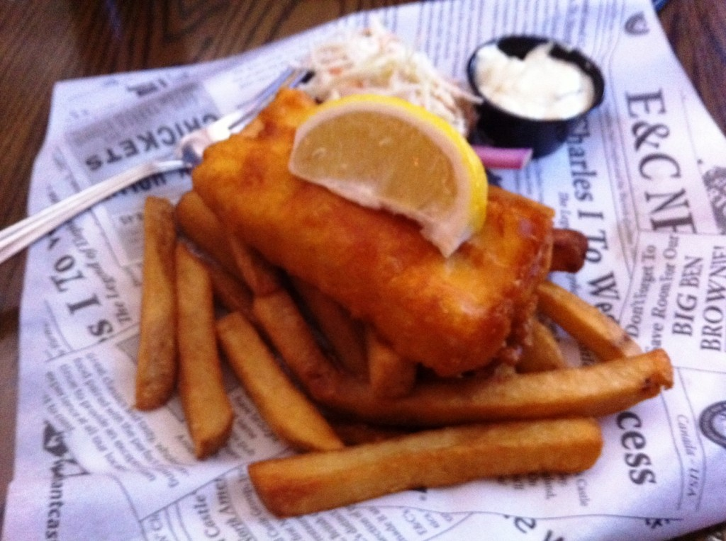 Fish & Chips at Elephant & Castle, Yonge Street, Toronto
