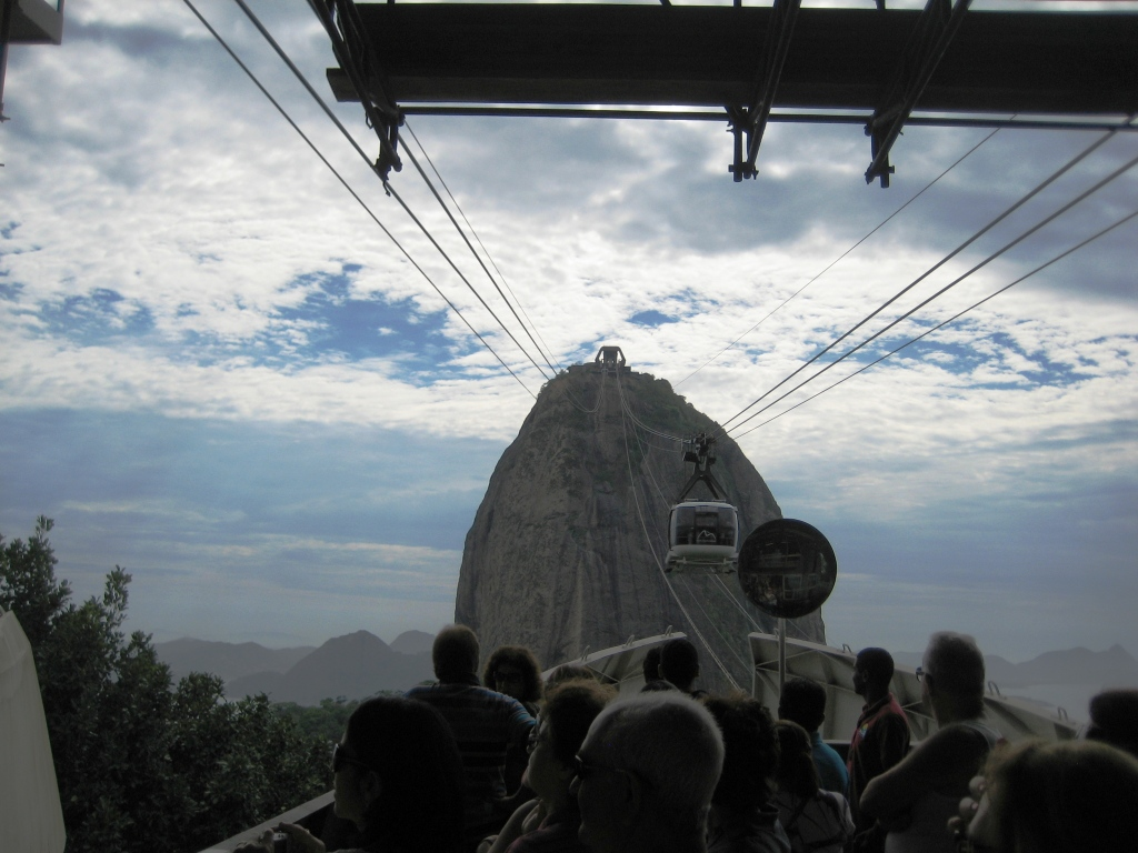 Waiting for the Cable Car to Carry Us Up to Sugar Loaf Mountain, Rio de Janeiro, Brazil