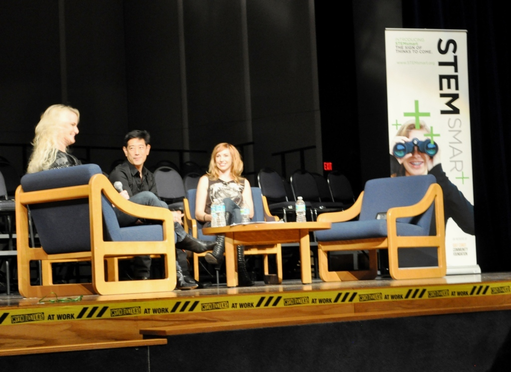 MythBusters' Grant Imahara and Kari Byron Talk STEM in North Port, Fla.