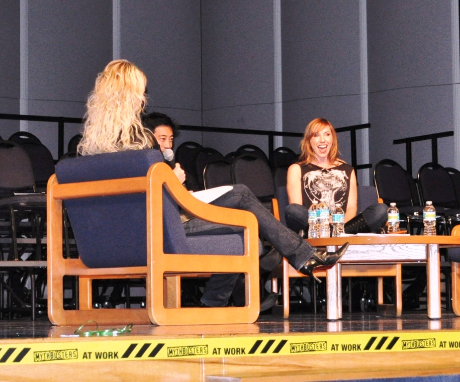 Grant (Middle) and Kari (Right) of MythBusters Talk About Blowing Things Up