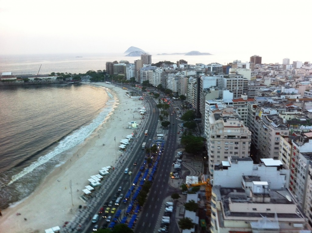 View of Copacabana Beach from Rio Othon Palace, Rio de Janeiro, Brazil